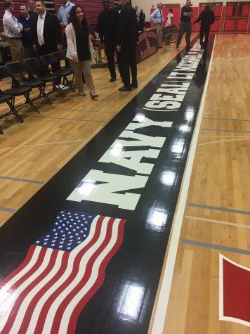 PMHS Gymnasium Floor Honors Fallen Hero