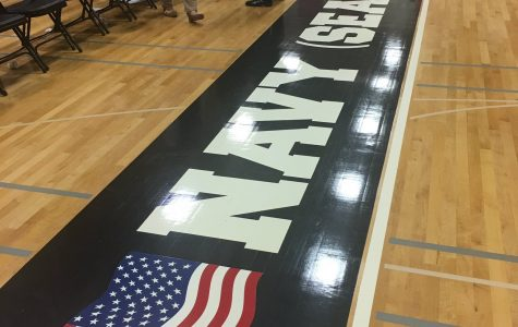 PMHS Gymnasium Floor Honors Fallen Hero