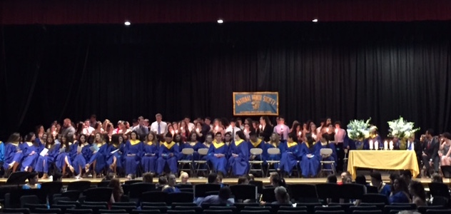 The+National+Honor+Society+Induction+ceremony+was+held+in+our+HS+auditorium+on+Wednesday%2C+May+25th.+111+students+were+inducted.