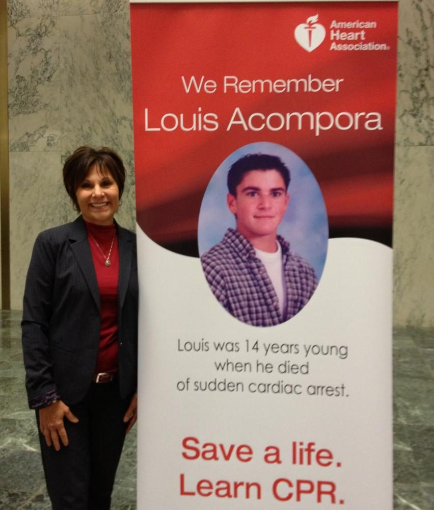 Karen+Acompora+Lobbying+in+Albany+for+the+CPR+in+schools+bill