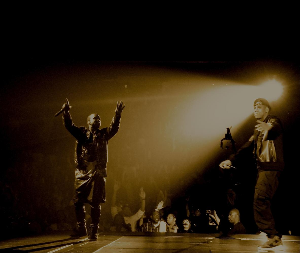 Kanye West and Jay Z -