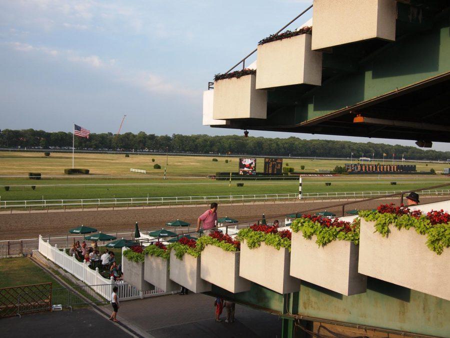 Belmont+Race+Park+grandstands.
