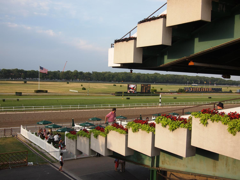 Belmont Race Park grandstands.