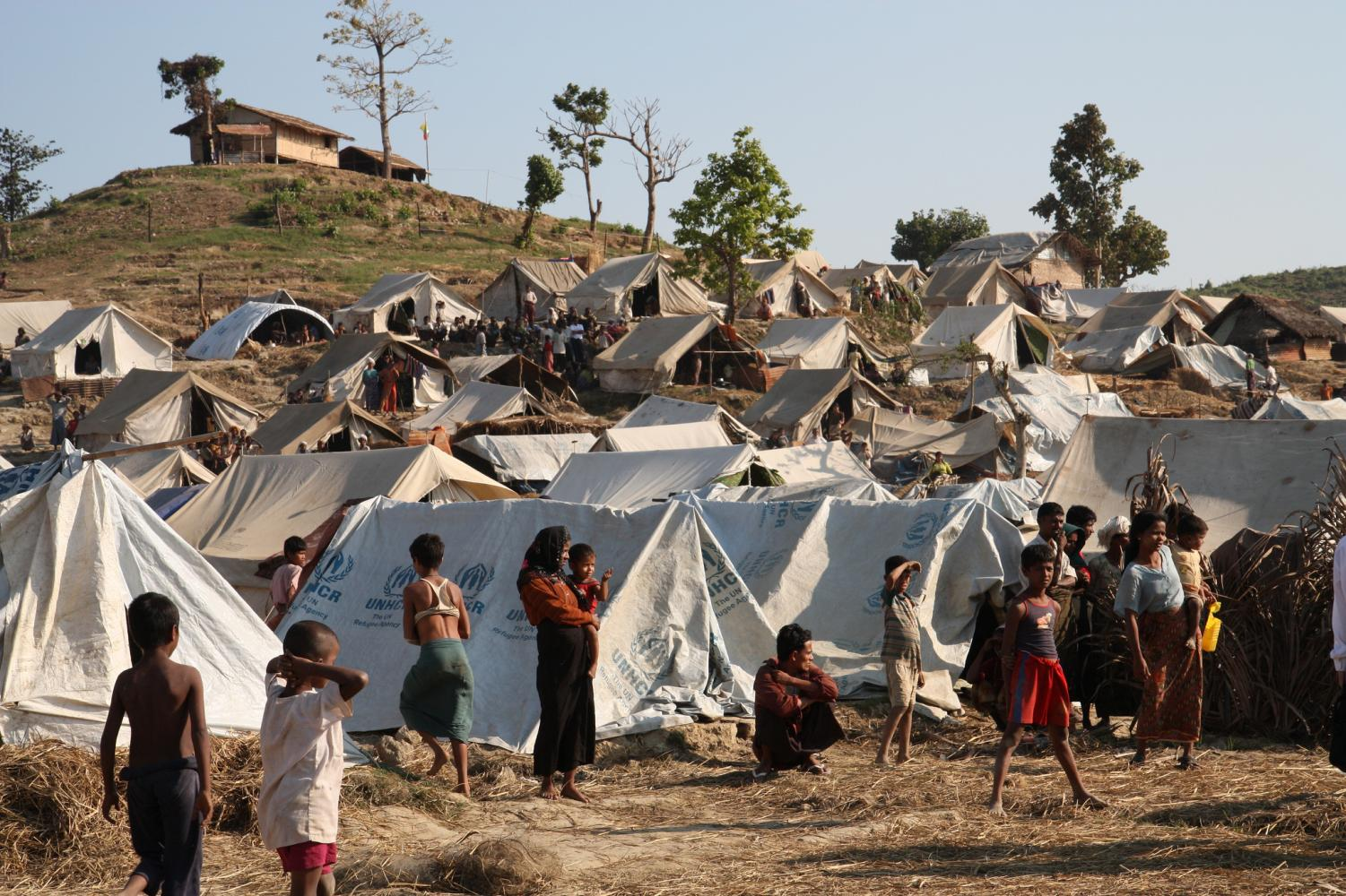 Refugees and displaced Rohingyans living in camps under some of the worst conditions.