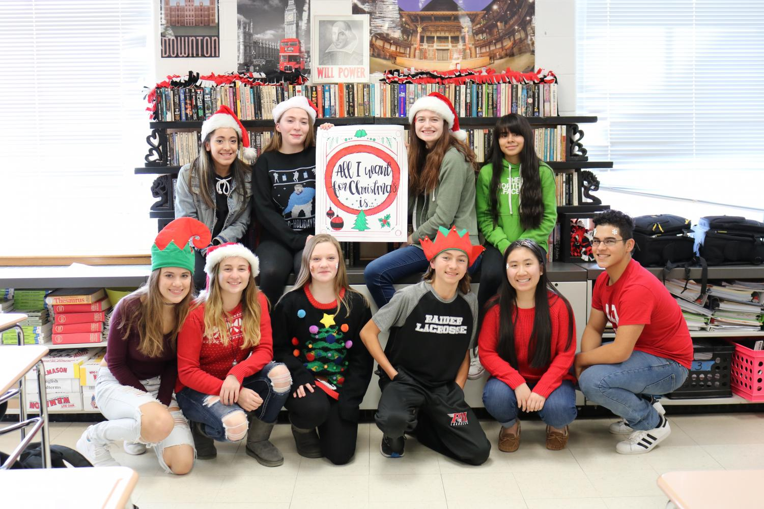 Mrs. Mckeough's AP Language students wrote letters to Santa (using persuasive language to convince him to get them what they want for Christmas) and sent them in to Macy's