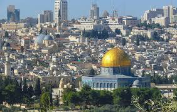 The city of Jerusalem, now recognized as the capital of Israel by the United States.