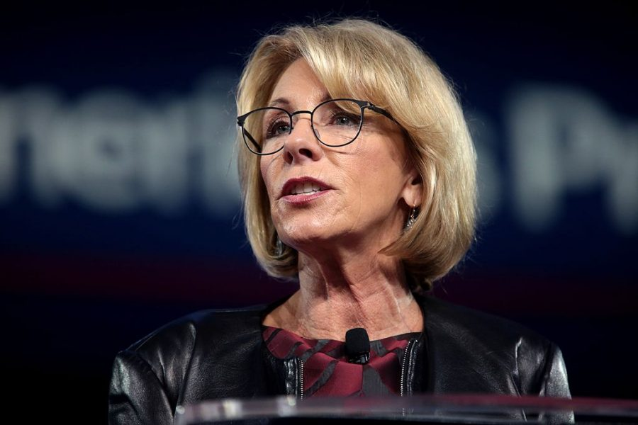 Secretary+of+Education%2C+Betsy+Devos%2C+has+come+under+fire+yet+again+after+her+interview+on+%2260+Minutes%22+this+past+Sunday.+