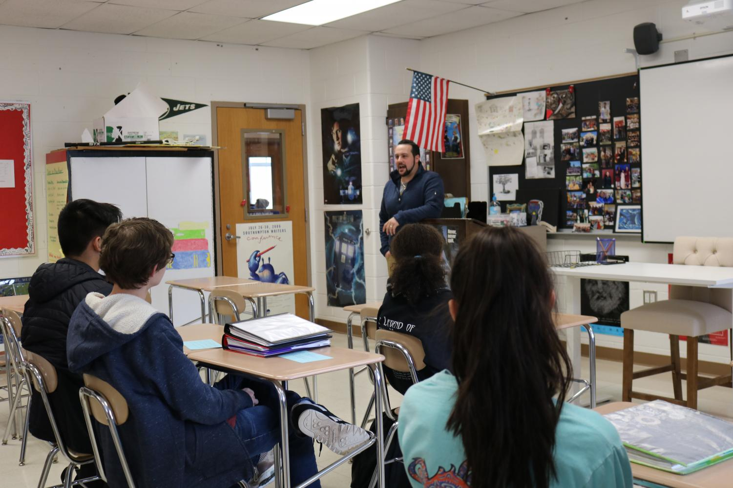 Chris Vacarro came to Mrs. Sullivan's journalism class last week to share his experiences and insights into the world of modern journalism.