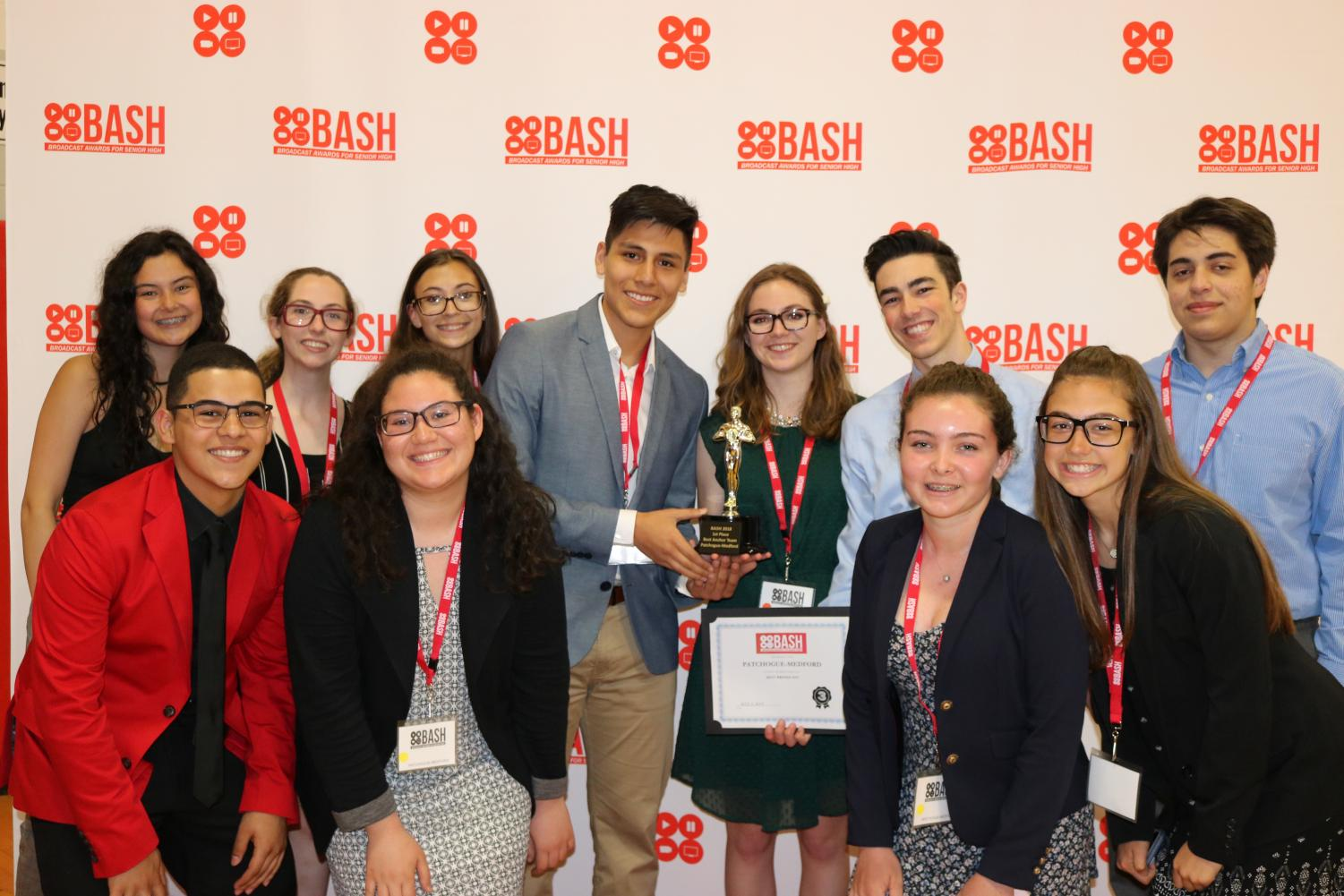Raider TV team poses at BASH with their awards!