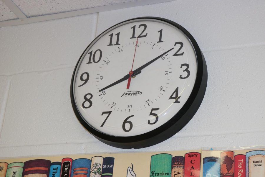 Watch the clock! Students and teachers are still getting used to PMHS's new bell schedule.