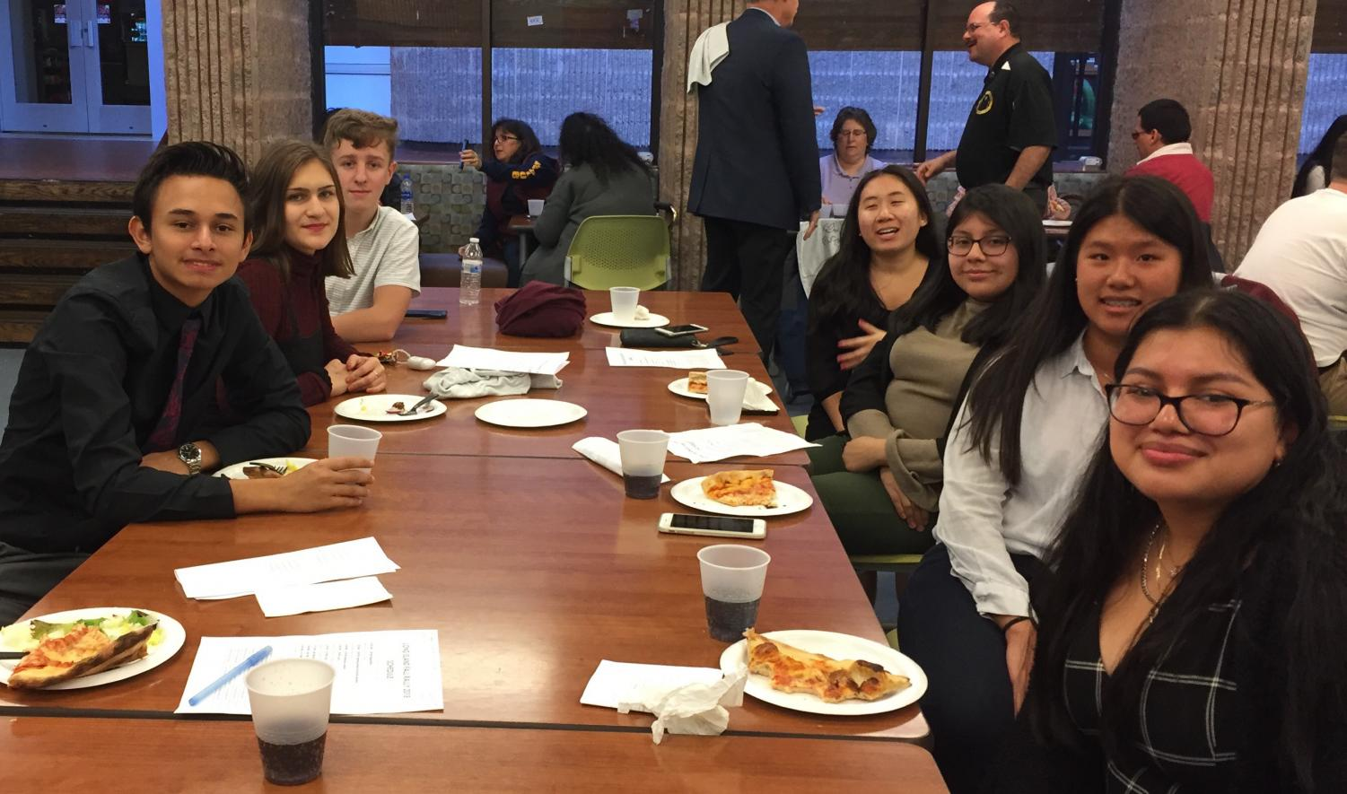 PMHS Key Club took a lunch break during their visit to LIU Post.