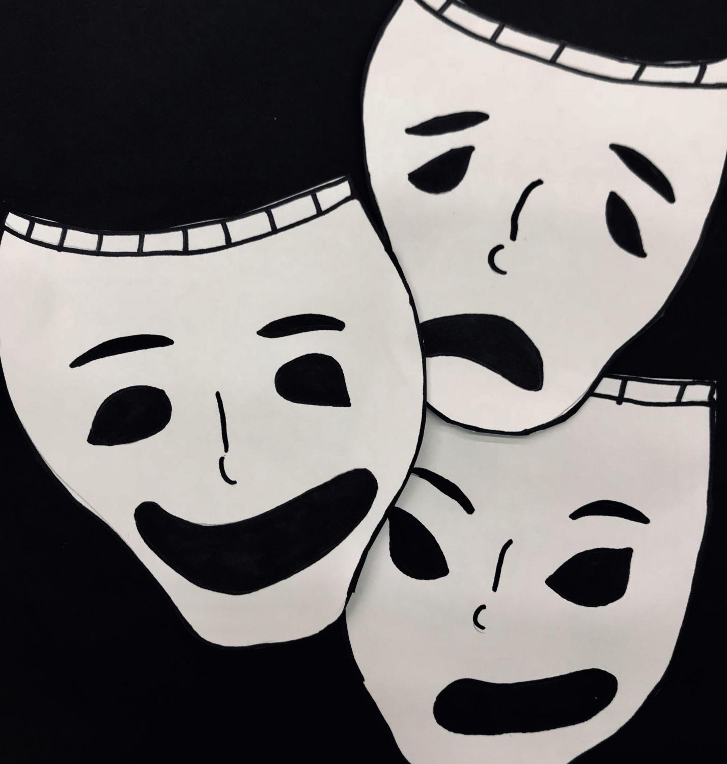 The many personalities that live within a person are often seen as 'masks' that one wears and switches off from frequently. All of which have their own moods and personalities as expressed by the masks shown.