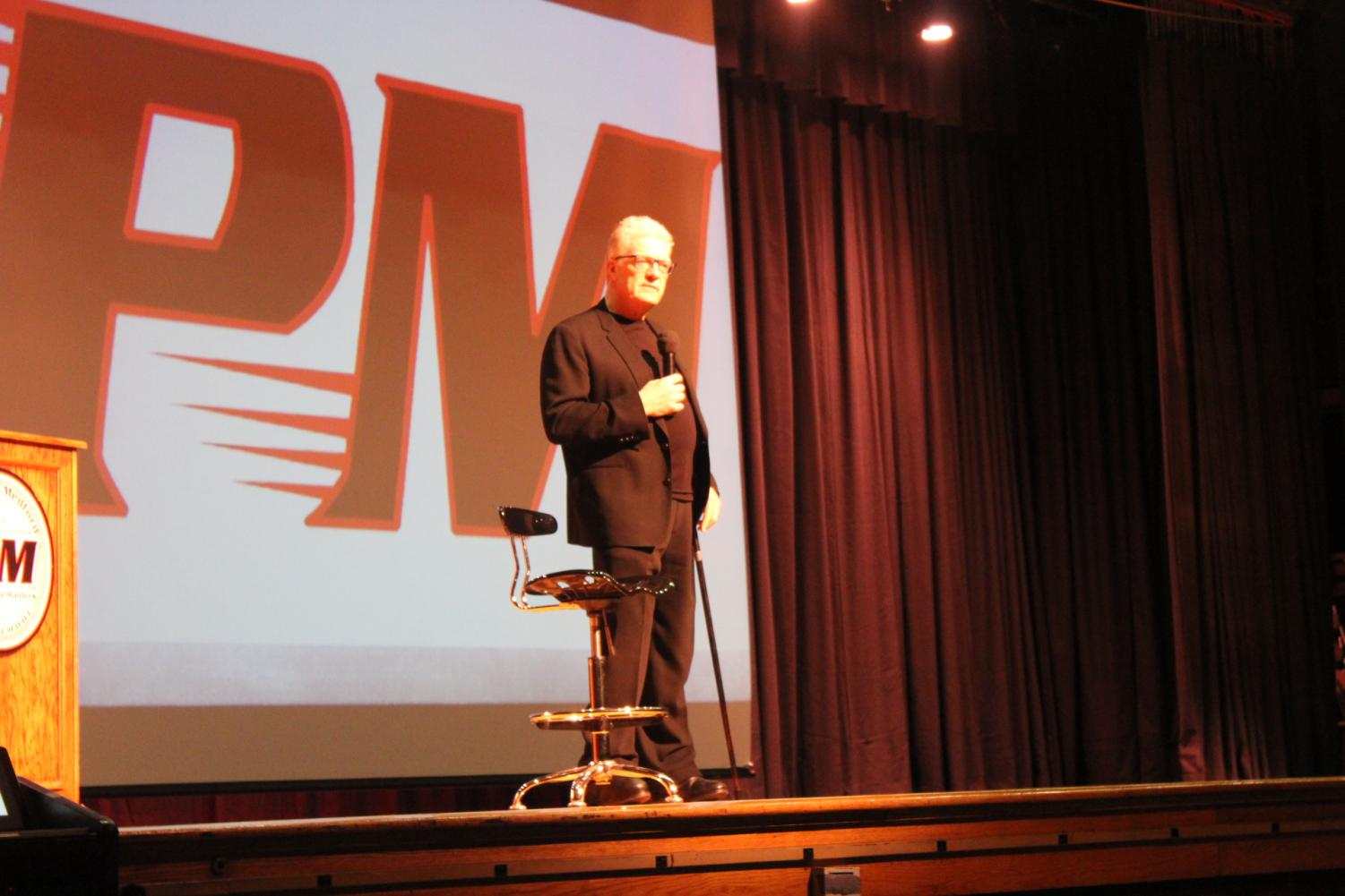 Sir Ken Robinson weathered the storm to speak with the Patchogue Medford community