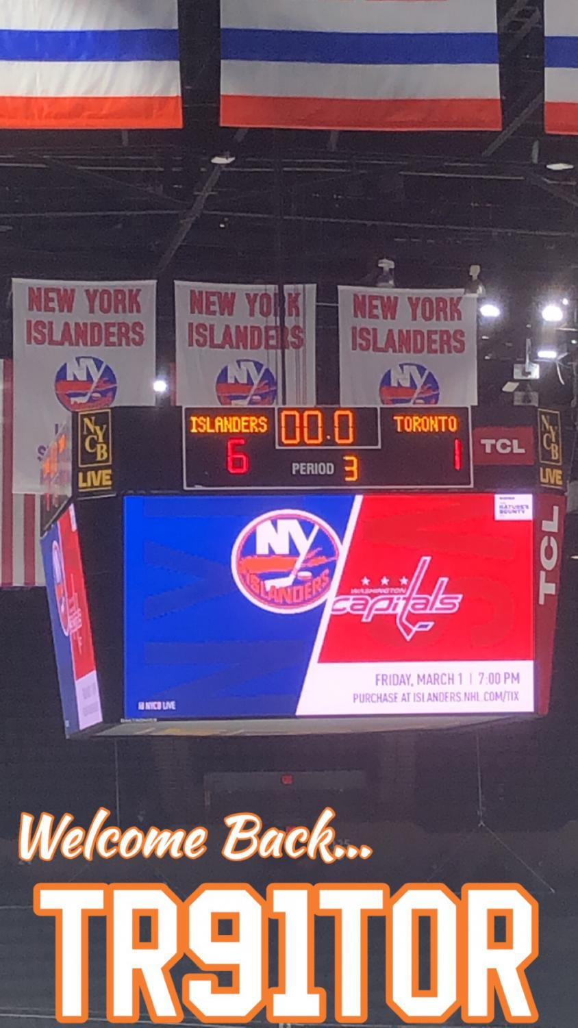 The most highly anticipated game of the year as the NYI fans