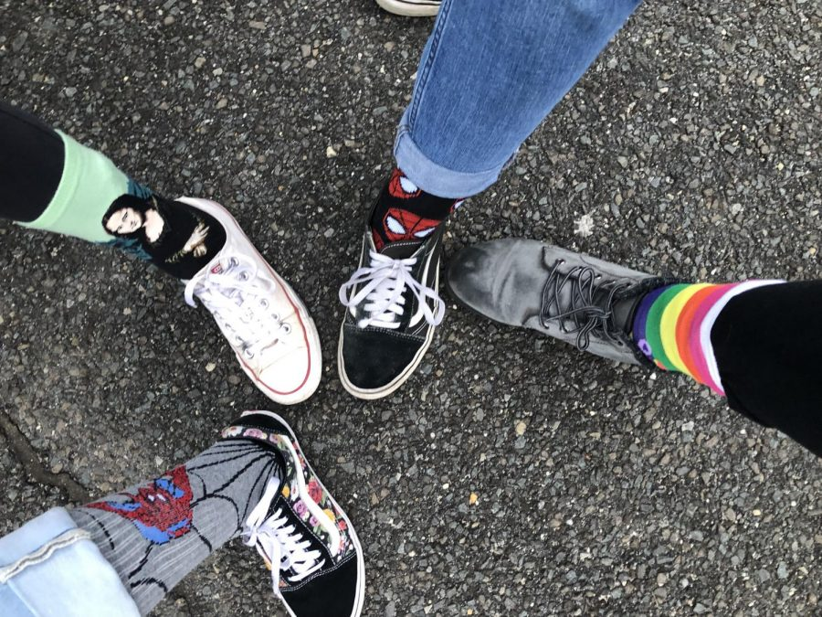 PMHS+students+showing+off+their+crazy+socks+in+support+of+Down+Syndrome+Day