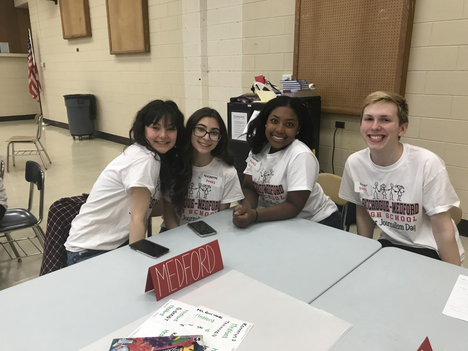 Staff writers and reporters were on hand throughout the event to help collaborate with kids and teach them the ropes about student journalism.
