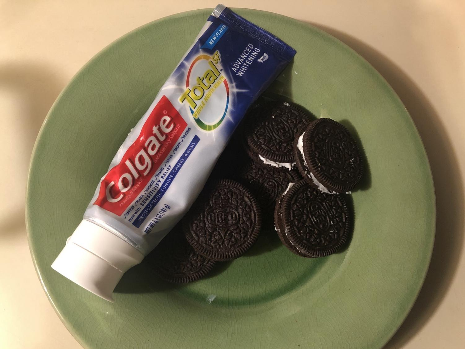 One of the oldest tricks to play on the unexpected: toothpaste filled Oreos.
