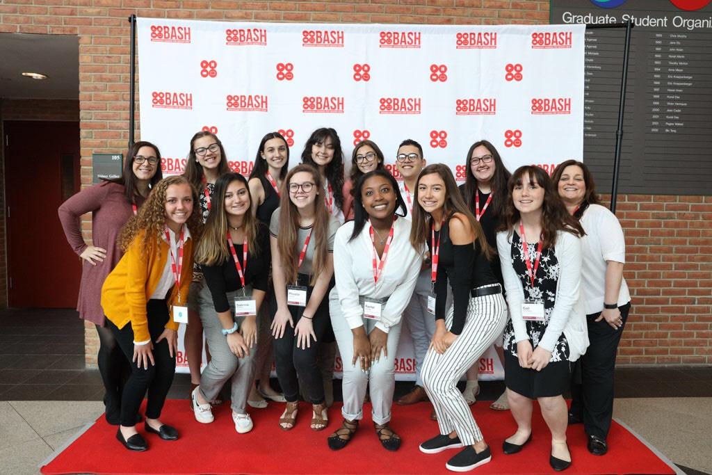 We went  to BASH! Back row: Mrs. Mckeough, Olivia, Isabella, Delaney, Nicolette, Andres, Jenna, Mrs. Sullivan. Front row: Isabelle, Sabrina, Phoebe, Rachel, Gianna, Gail.