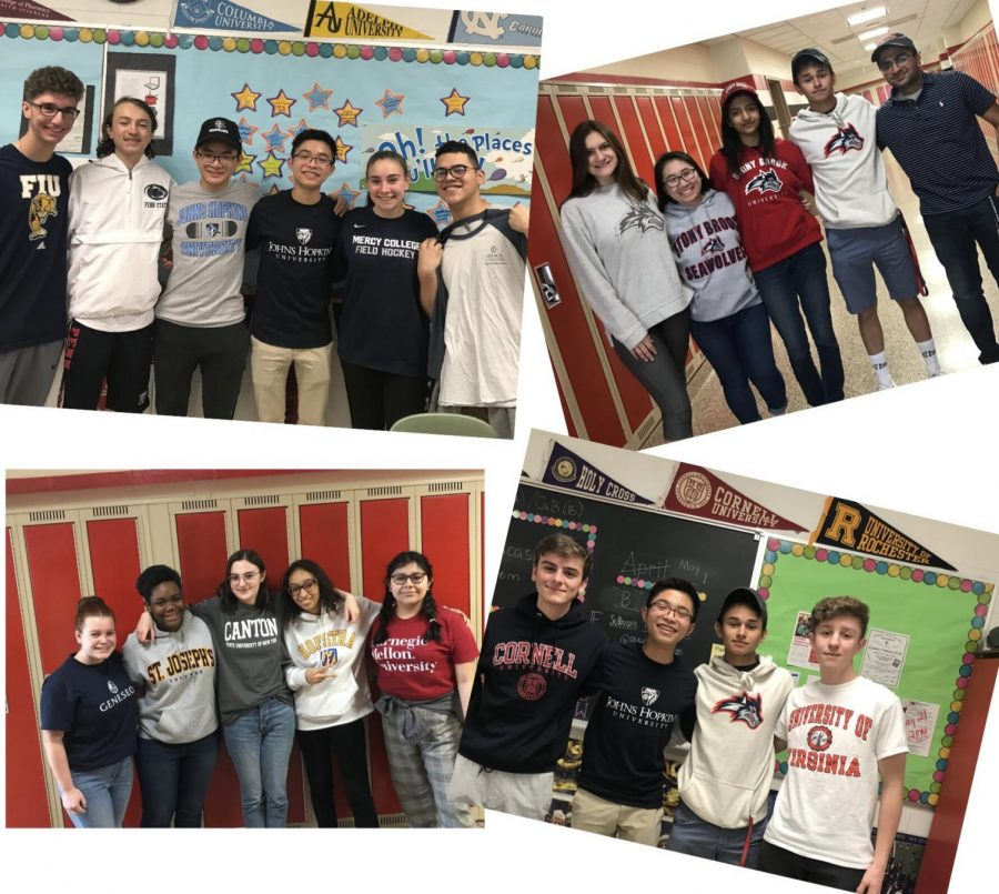 Seniors+from+Mrs.+Sullivan%27s+AP+Literature+class+proudly+display+where+they+are+headed.