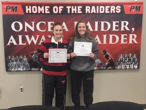 Kylie Peregoy (Field Hockey) and Caitlin Dellecave (Volleyball) are the September Athletes of the Month.
