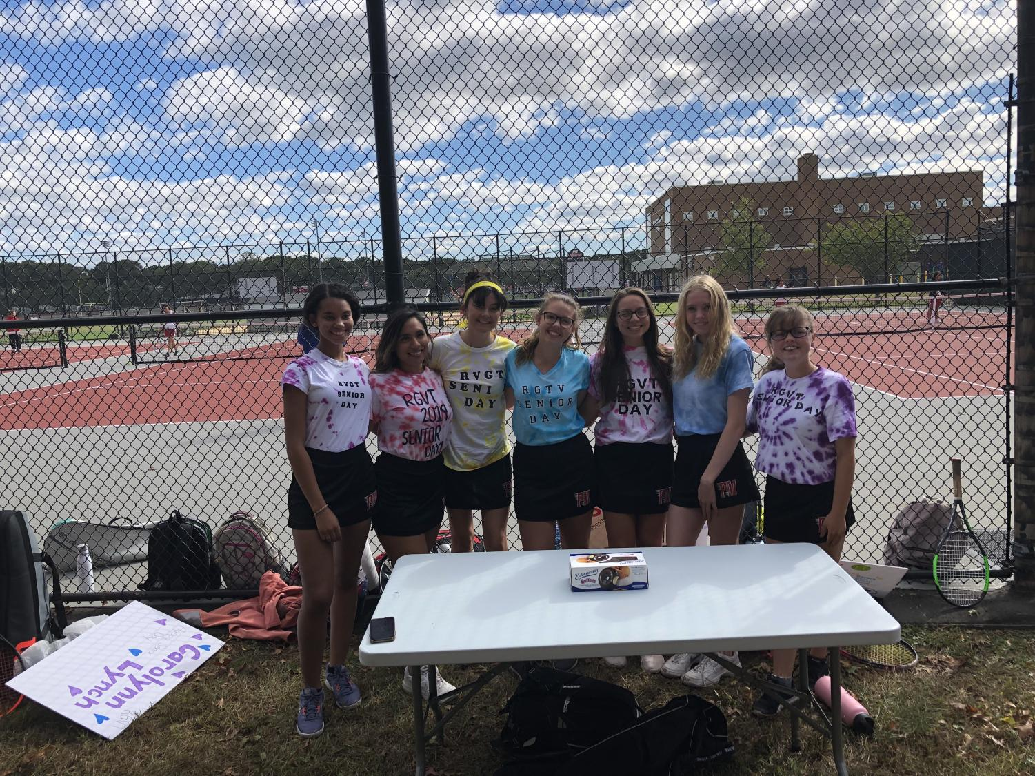 (listed left to right) Seniors who were celebrated during the big day: Chloe, Ang, Delaney, Phoebe, Nicole, Cat, and Carolynn