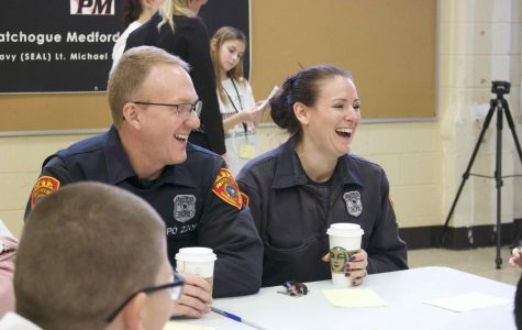 COPE officers Kevin and Brenda sat down with junior journalists from Medford Elementary to talk about what it means to be part of a community.