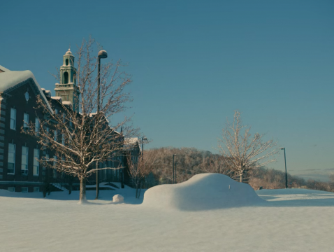 The final shot of the film when Jake's truck is buried under snow is just one of the many artistic choices made in this film to capture the emotional state of the main character who is suffering from depression.