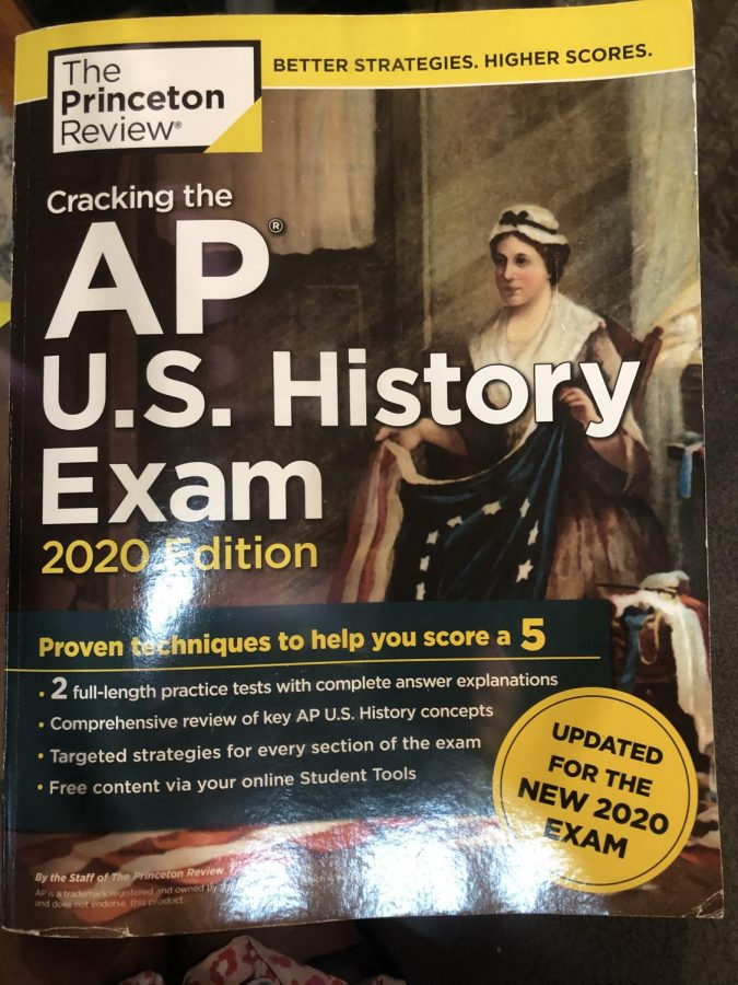 Pictured here is my APUSH Princeton Review review book that I used to study for the exam last year. I found its explanations and practice exams very helpful!