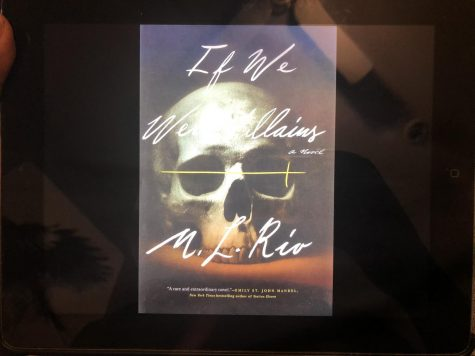 "Pictured here is the cover of my copy of the ""If We Were Villains"" e-book. Normally, I don't judge a book by its cover, but you have to admit this one is really cool."