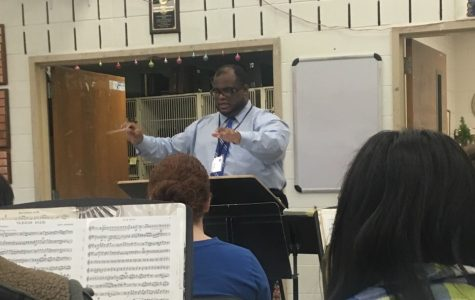 """Conducting"" an Interview with the Newest Music Teacher, Mr. Johnson"