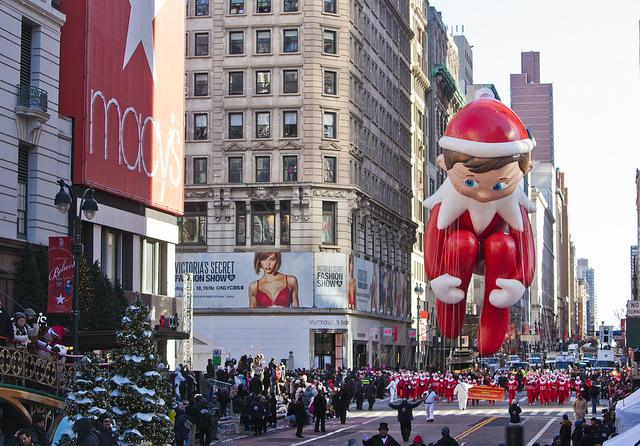 The+annual+Macys+Thanksgiving+Day+Parade+also+features+the+elf+on+the+shelf.