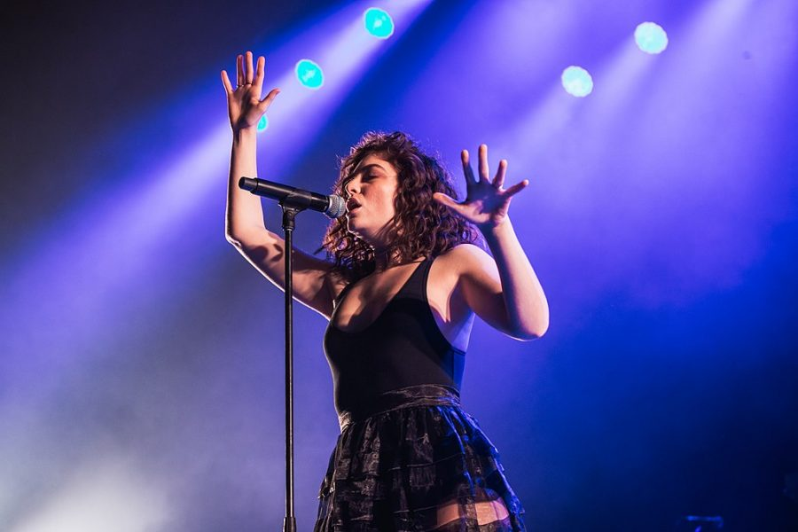 Lorde, performing live in concert.