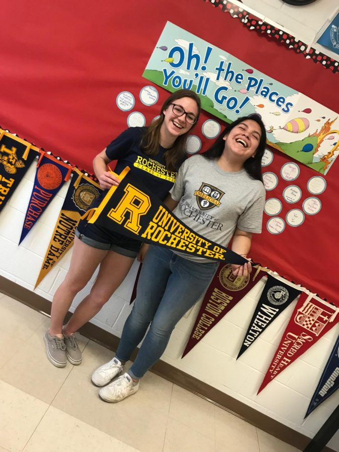 What's the next step? Making the BIG college decision the way that PMHS grads, Stella and Aimee, did.