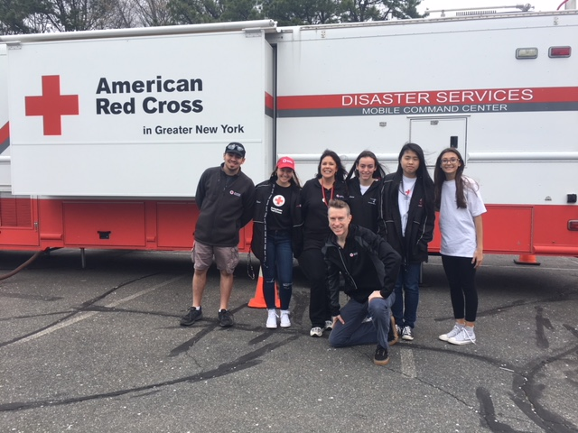 Students from the PMHS Red Cross Club meet with the CEO of Greater NY Red Cross to promote smoke detector program
