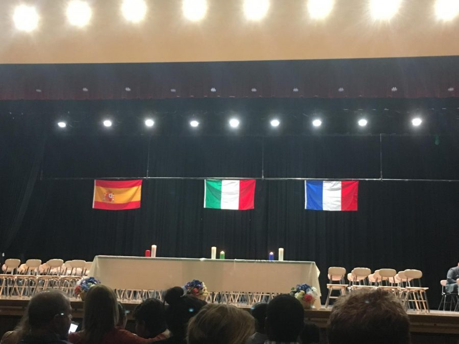 The Italian, Spanish, and French Honor Societies have a yearly induction ceremony to welcome new students into different cultures and heritages. Students with well-maintained grade point averages are inducted and recognized in this society. This year's World Language Honor Society Ceremony will be held on May 1st.