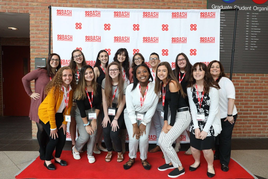 We went  to BASH! Back row: Mrs. Mckeough, Olivia, Isabella, Delaney, Nicolette, Andres, Jenna, Mrs. Sullivan. Front row: Isabelle, Sabrina, Phoebe, Rachel, Gianna, Gail.