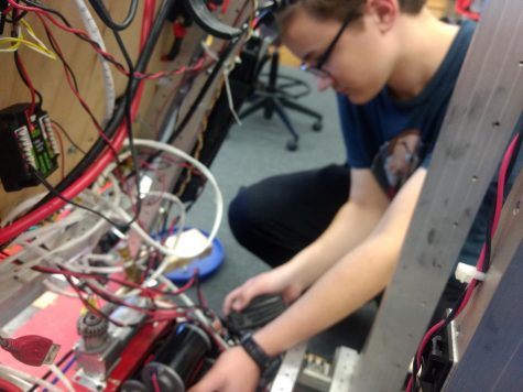 Brian utilizing the skills he has picked up from being a member of the Robotics team.
