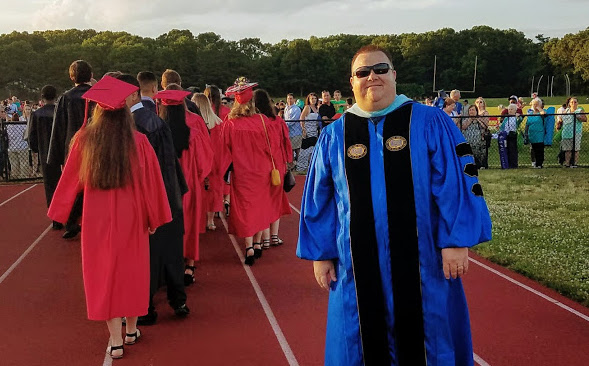 Principal Dr. R takes great pride in all that happens at PMHS.