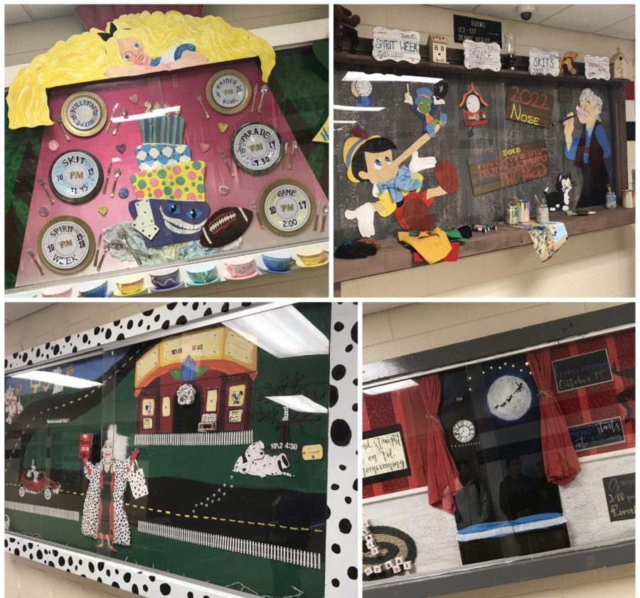 The four class bulletin boards were assembled just in time for Back to School night and to kick off this year's theme