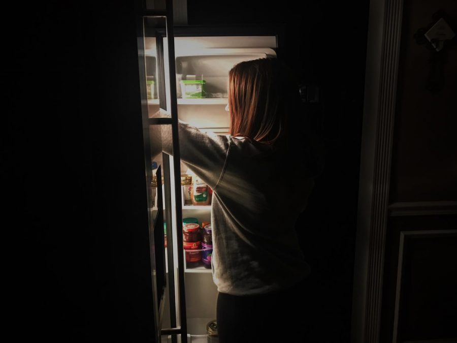 Think before you are so quick to grab that late night snack.