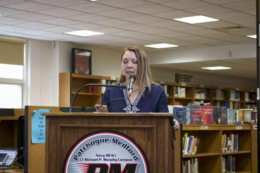 Many English teachers, including Mrs. Kirwin, opted to read selections of the choosing as contributions to this event.