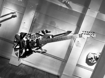 "The infamous ""Frankenstein"" composite guitar is one of the most iconic guitars resides in the Metropolitan Museum of Art played the late Eddie Van Halen"
