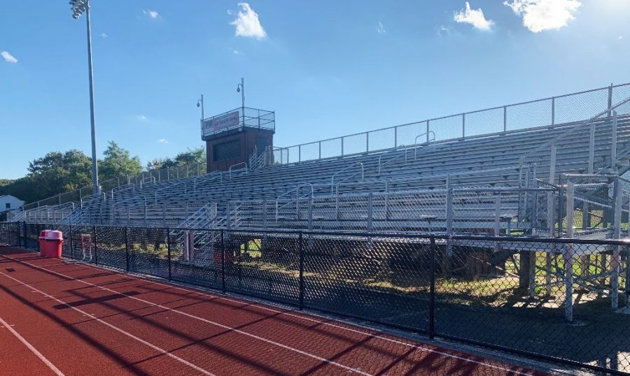 We+are+hoping+to+fill+these+bleachers+soon+with+enthusiastic%2C+masked+spectators+cheering+on+our+Raiders+in+the+spring+season%21+