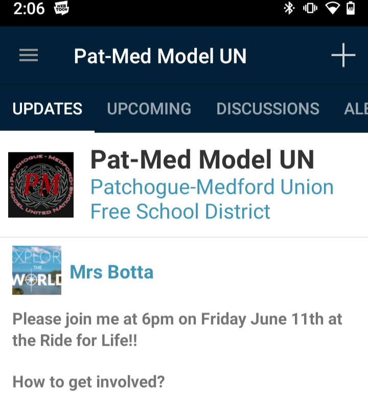 Join the PMHS Model UN Schoology group if youre interested in being part of a club that teaches young adults how to solve some of our planets most pressing conflict.
