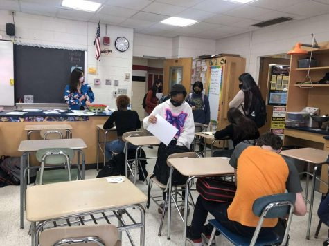 Students joined the Interact Club meeting to find out more about how they can serve their community.